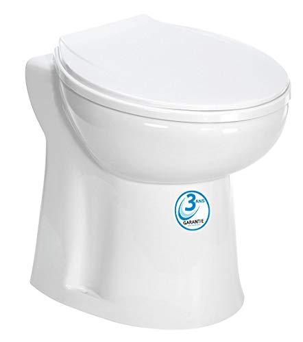 AQUASANI Compact - Broyeur WC avec cuvette intégrée - MADE IN FRANCE et Garantie 3 ANS.