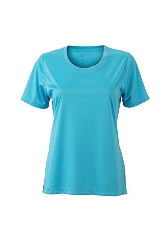 Damen Jersey Sport T-Shirt Turquoise