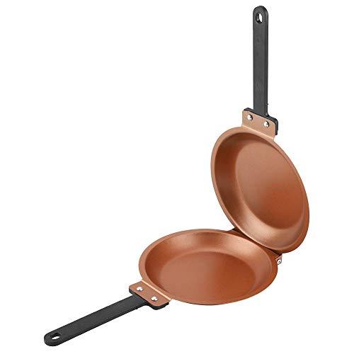 Non-stick Ceramic pancake pan Induction-Safe crepe pan flip over Pan Cake Pancake Maker Fried Egg für Gas und Induktionskochfeld im Fernsehen,Gold