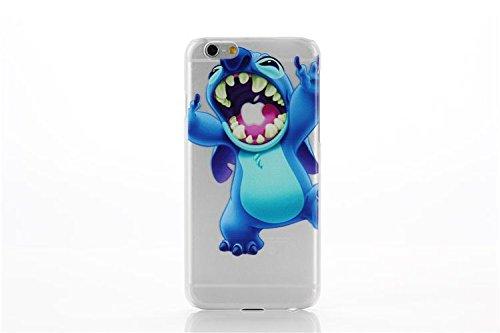 iPhone 7 Etui Rigide / Transparent Dessin Animé Stitch Coque Arrière Couverture pour Apple iPhone 7 / Protecteur Ecran & Chiffon / Bras Croisés Chomp