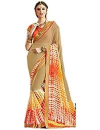 Mantra Fashions Women's Georgette Saree (Mant17_Multi)