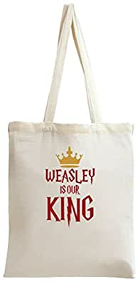 Weasley Is Our King Typography Tote Bag