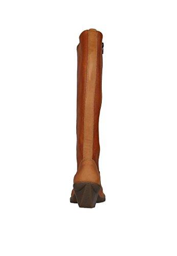 Arte in pelle di alta stivali Oteiza Cuero Brown 0647 Cuero