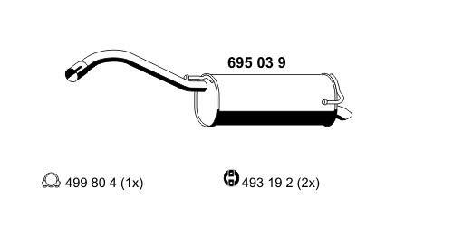 Preisvergleich Produktbild ERNST 695039 Endschalldämpfer
