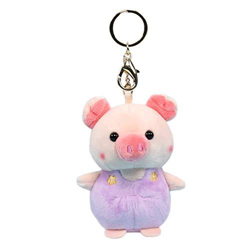 WiFndtu Pig Porte-clés en peluche pour décoration de poupée douce Vert