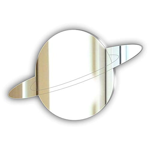 Personalised Gift Plaque - Etched Saturn Space Mirror Door Plaque -