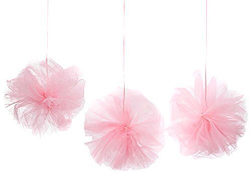 Amscan International - 180182 - 109 rosa Fluffy tul Kit de decoración