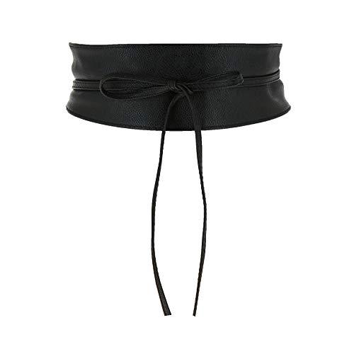 Fashiongen - Damen Taillengürtel Breiter Obi gürtel MICA - Schwarz, L-XL