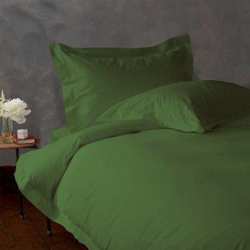 Luxuriöse Ägyptische Baumwolle mit Fadendichte 300 4pc Plansatz-&, 3-teiliges Set mit Bettdecke, SkirtEuro IKEA Moss, Olive, 300TC, 100% Baumwolle - 300tc-duvet-set