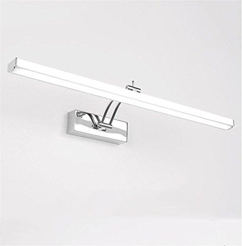 Keine 70 Twin Pack-licht (LIYONGDONG® Spiegellicht Wandlampen Badezimmer Geführt Edelstahl Wasserdicht Europäischer Stil Spiegelleuchten Badezimmer Spiegelschrank Licht Anti-Beschlag Retro Make-up-Lampe,70cm)