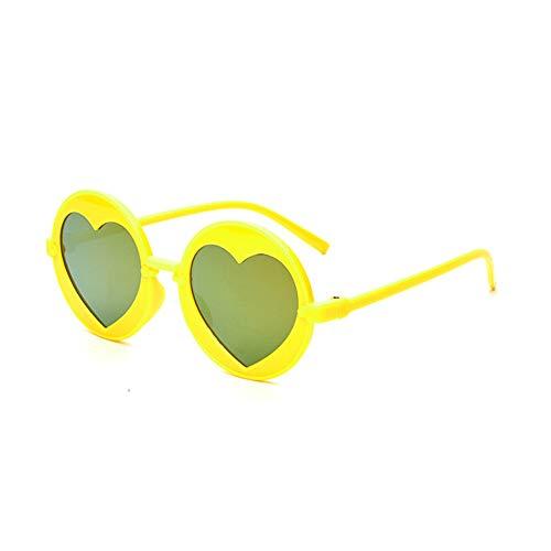 Wang-RX Runde kinder sonnenbrille jungen mädchen liebe herz spiegel vintage sonnenbrille brillen retro mode uv400 7 farben