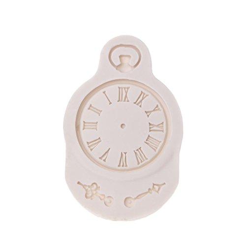 Anzahl Schokolade Formen (slylive Uhr Form 3D Silikon Form–Fondant Kunstharz Candy Schokolade Jelly DIY Dekorieren)