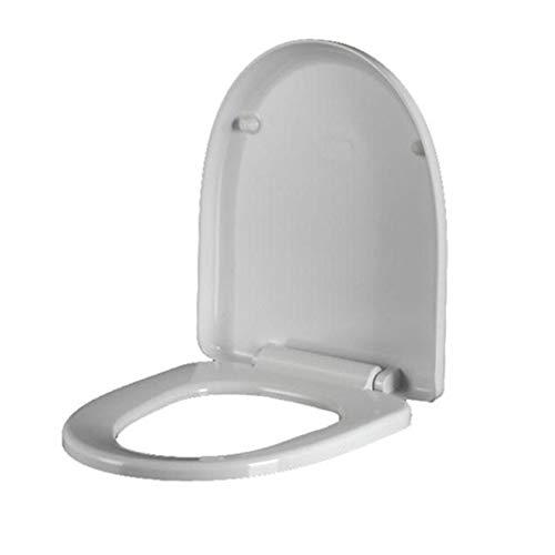 Yyue sedile normale,sedile wc antibatterico,legno mdf tavoletta,plastica chiusura ammortizzata soft close,bagno,white