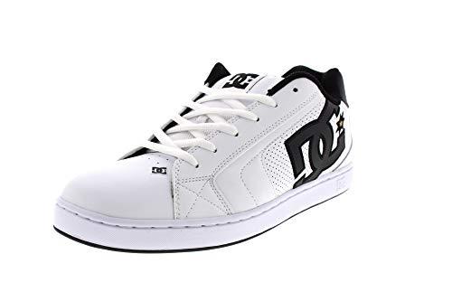 DC Shoes Herren Net-Low-top Shoes for Men Skateboardschuhe, White/Gold, 50 EU