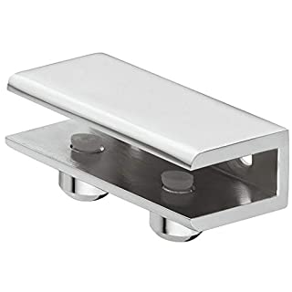 Gedotec Glasbodenträger Edelstahl Regalbodenträger Glas und Holz - Cube | Tablarträger für Tablardicke 8-10 mm | Wand-Halterung mit Tragkraft 24 kg | 1 Stück - Design Regalträger aus Metall