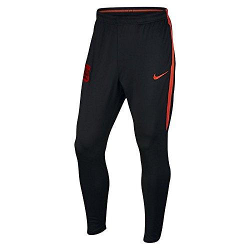 Nike M Pant Sqd Kpz Pantalón línea Manchester City F.C, Hombre, Negro-(Black Team Orange), L