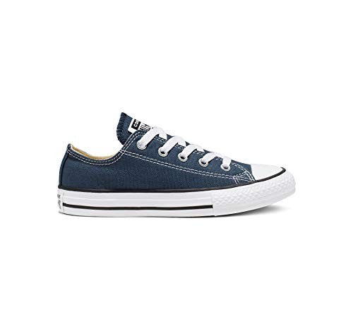 Converse Unisex-Kinder C. Taylor All Star Youth OX 3J2 Low-Top, Blau (Navy), 35 EU