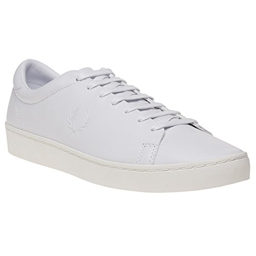 Fred Perry Spencer Premium Leather Homme Baskets Mode Blanc Blanc