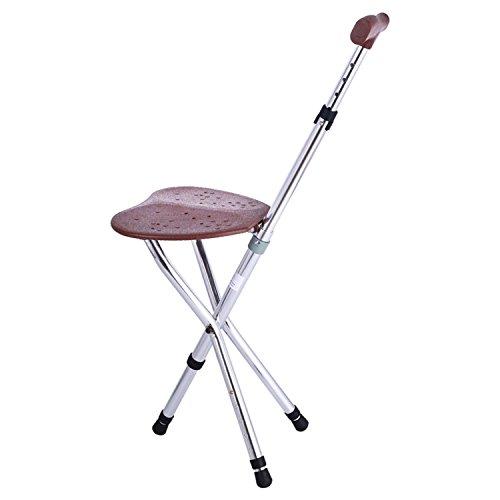 XIONGNA Aluminium-Legierung Stativ Krücke Robuste und leichte Walking-Stuhl Hocker für alte Leute Old Man Walker Teleskop-stativ Hocker