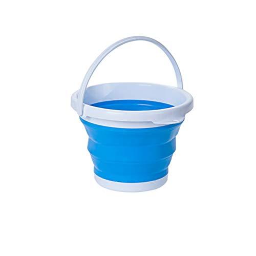 nklappbaren Kunststoff Eimer Küche Garten Tragbare Camping Wasserspeicherbehälter Klappbecken Toilette Emmer (Color : Blue) ()
