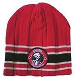Social Distortion Beanie Mütze Cap Red Black Stripes Strickmütze Rot