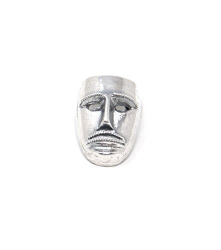 Marrocu gioielli - ciondolo maschera su merdule argento brunito