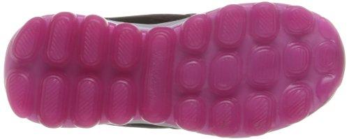 Skechers Skech AirBizzy Bounce, Low-Top Sneaker bambina Nero (BKHP)