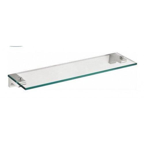 Badezimmerablage chrome von Escara   Spiegelablage aus Glas und robustem verchromten Edelstahl   Badezimmerablagen und-regale  
