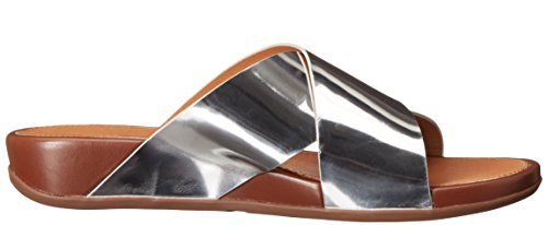 Fitflop Sandals - Fitflop Aix Slide Sandals - Silver Silber