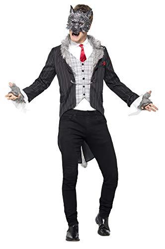 Smiffys 44395L - Herren Großer Böser Wolf Kostüm, Größe: L, grau (Der Und Kostüme Rotkäppchen Wolf)