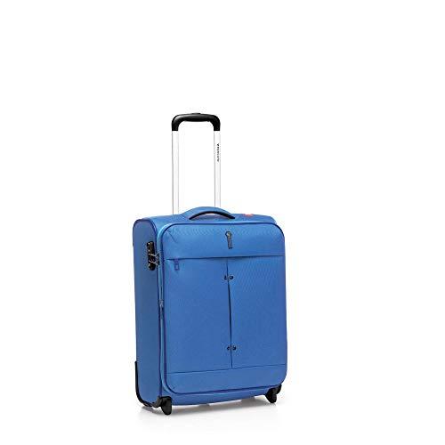 Roncato trolley cabina xs morbido ironik - bagaglio a mano cm. 55x40x20/23 l 40-46, espandibile, ultra-leggero, chiusura tsa, ideale per ryanair easyjet lufthansa, garanzia 2 anni