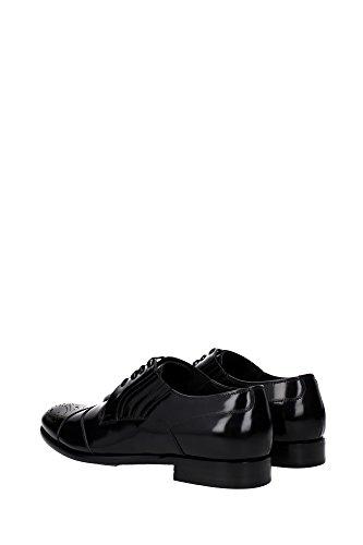 A10079AC46080999 Dolce&Gabbana Derby Homme Cuir Noir Noir