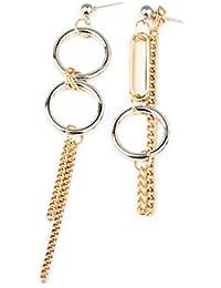 70e58856eb70 Nuevo wyt 1 par de cadena larga pendientes de la borla cuelga anillo de la  personalidad