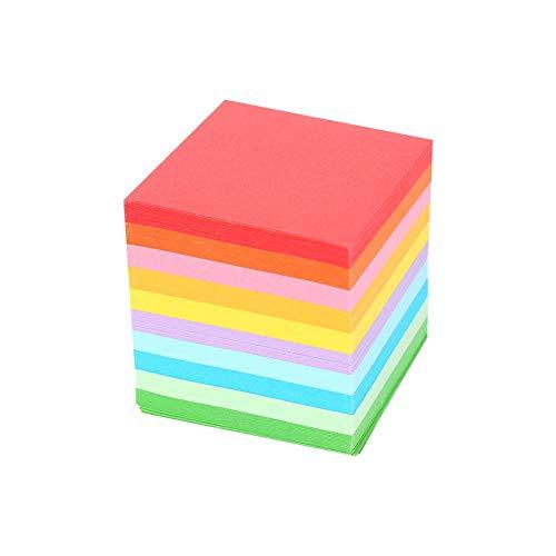 Origami-Papier, 520 Stück 10 Farben Quadratisches Faltpapier Bunte doppelseitige Origami-Kran-Bastelbögen 5x5 cm -