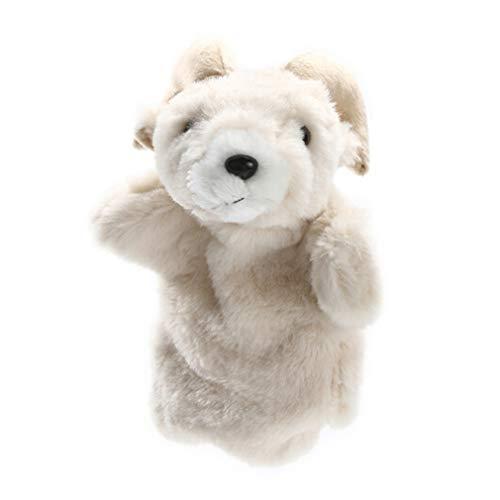 MOONRING Ziege Handpuppe Kreative Vater und Sohn Farm Animal Handpuppe Nette Plüsch Finger Puppe Puppenspiel Spielzeug, Ziege