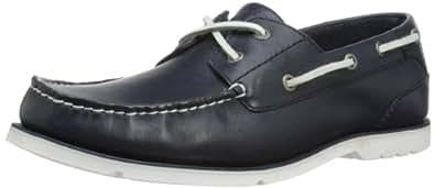 Rockport Mens Summer Tour 2 Eye Boat Shoes V73566 Navy/White 7 UK, 40.5 EU, 7.5 US, Wide