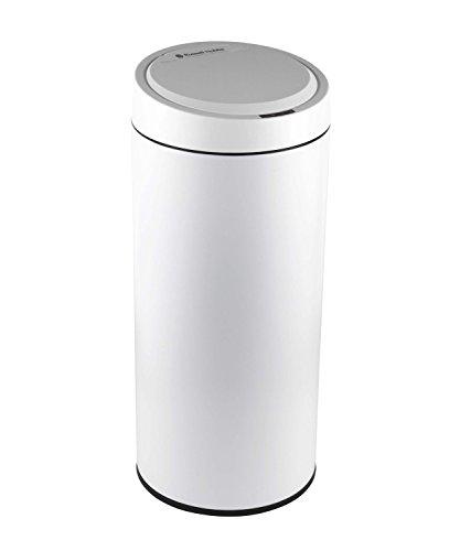 Cubo de basura Russell Hobbs BW05386W con sensor, 40L, acero inoxidable, color blanco mate