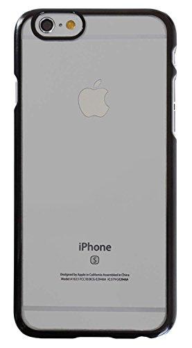3Q Custodia per Apple iPhone 6 iPhone 6S Cover Novità maggio 2016 Design Svizzero Trasparente e Bumper Nero