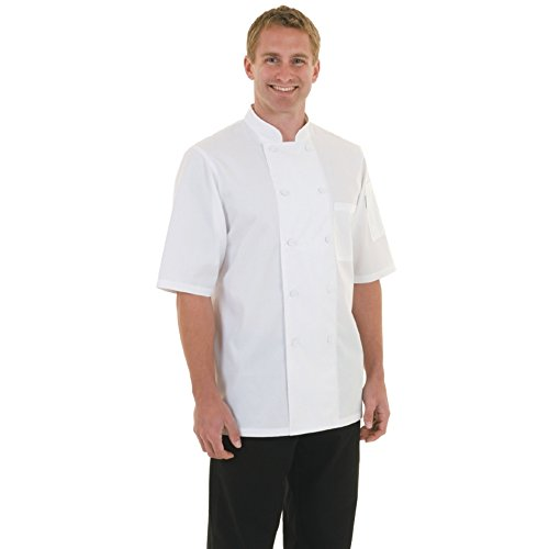 Chef Works a914-m Basic Montreal Basic CoolVent Kochjacke, Größe M, weiß (Chef Mäntel Von Chef Works)