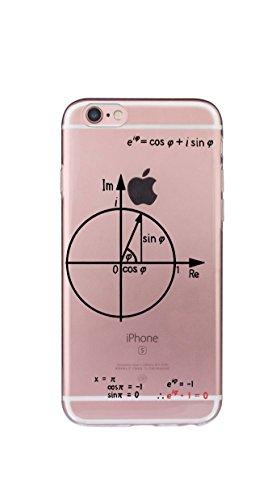 Case Cover Per iphone 6/6S Plus 5.5 pollici Trasparente TPU Gel Silicone Bumper Protettivo Skin Custodia Ultra-sottile Flessibile morbido Protettiva Shell(Occhio) Matematica