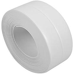 Cinta adhesiva de Pared Borde Tirador de Sellado PVC Resistente para Protección borde de Fregadero Bañera Cocina Ducha 38 mm * 3.2 m