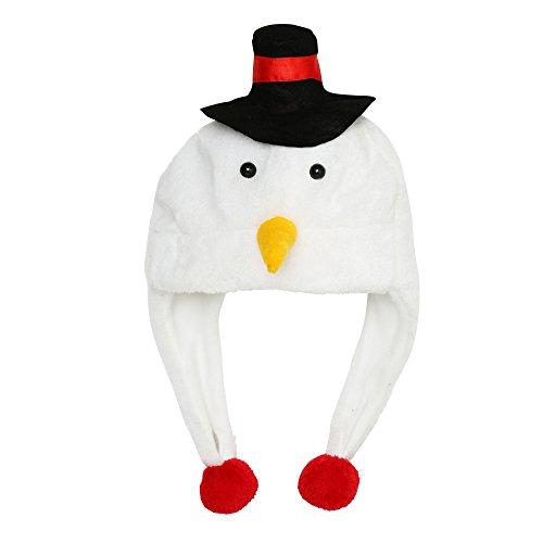 Christmas Shop - Gorro navideños afelpado con diseños navideños Adultos Hombre Mujer (Talla Única/Muñeco de nieve)