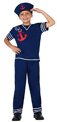 Fancy Me Jungen Navy Seemann Streitkräfte Karneval Weltbuch Kostüm Outfit 3-12 Jahre