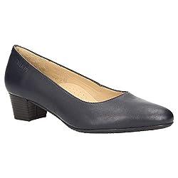 Zweigut® -Hamburg- smuck #213 Damen Leder Pumps - Flacher Absatz - weich - Nappaleder Sommer Business Schuhe Komfort Laufsohle, Schuhgröße:39, Farbe:Nachtblau