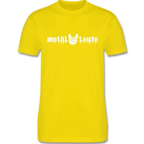 Music - Metal Leute - L190 Herren Premium Rundhals T-Shirt Lemon Gelb
