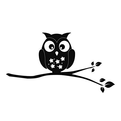 kleb-Drauf®   1 Eule auf AST   Schwarz - matt   Autoaufkleber Autosticker Decal Aufkleber Sticker   Auto Car Motorrad Fahrrad Roller Bike   Deko Tuning Stickerbomb Styling Wrapping (Angry Bird-auto-aufkleber)