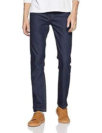 Indigo Nation Men's Slim Fit Casual Trousers (50011935002001_Blue_30W x 33L)