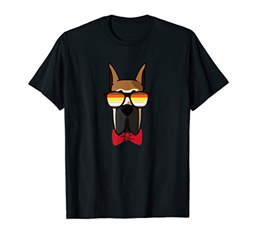 Gay Deutsche Dogge mit Sonnenbrille - Cute Gay Pride Dog T-Shirt