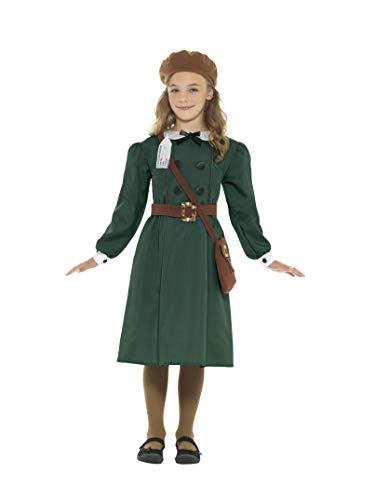 Fancy Jahren 1940er Dress Kostüm - Smiffys WWII Evacuee Mädchen Fancy Dress Britischer Weltkrieg 2 Buchtag Kinderkostüm (10-12 Jahre)