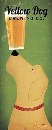 Feelingathome- imprimer-sur-toile-100%coton-Yellow-Dog-Brewing-Co.-cm48x19-affiche-reproduction-gravure-